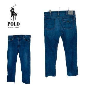 Polo Ralph Lauren Destroyed Bootcut Jeans. 40/32